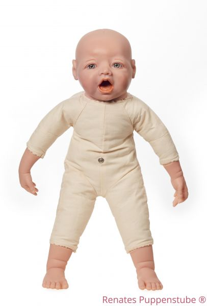 No 44363 Foetus doll with mouth for breast feeding, sutures and fontanelles,