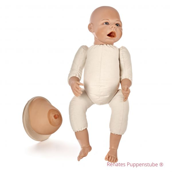 Set No 50 Leon - newborn baby doll with sutures + Breast Model